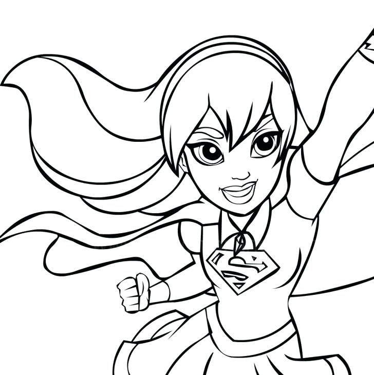 728x730 Supergirl Coloring Pages Medium Size Of Coloring Pages