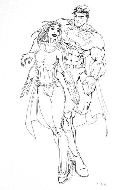 453x650 Superman And Supergirl Coloring Pages Nice Coloring Pages For Kids