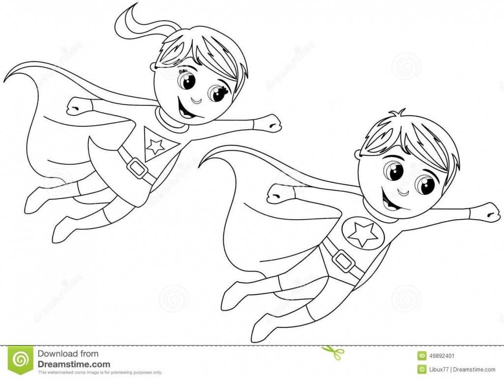1025x773 Inspirational Free Coloring Pages Superhero Outline Superhero