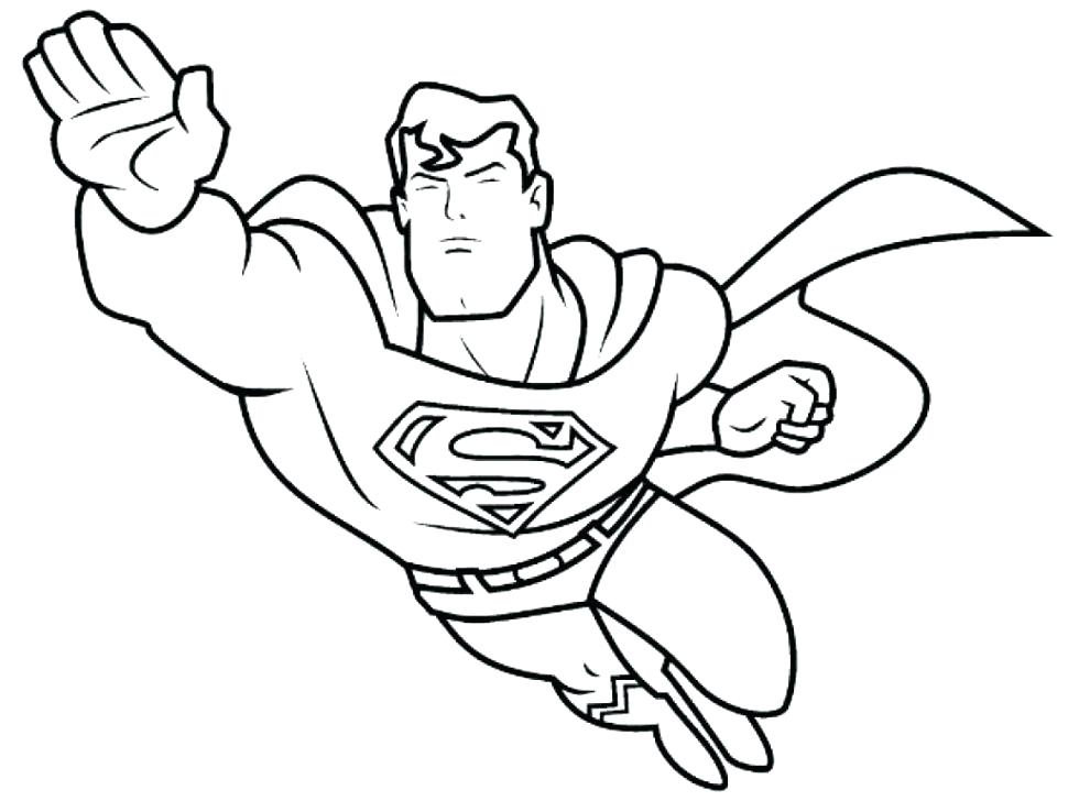 970x728 Superhero Coloring Pages For Kids
