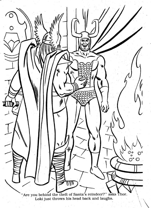Superhero Christmas Coloring Pages At GetDrawings Free Download