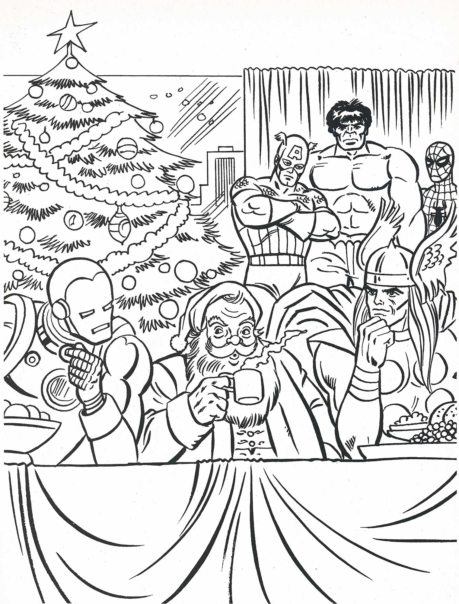 1521x2000 Superhero Christmas Coloring Pages Free