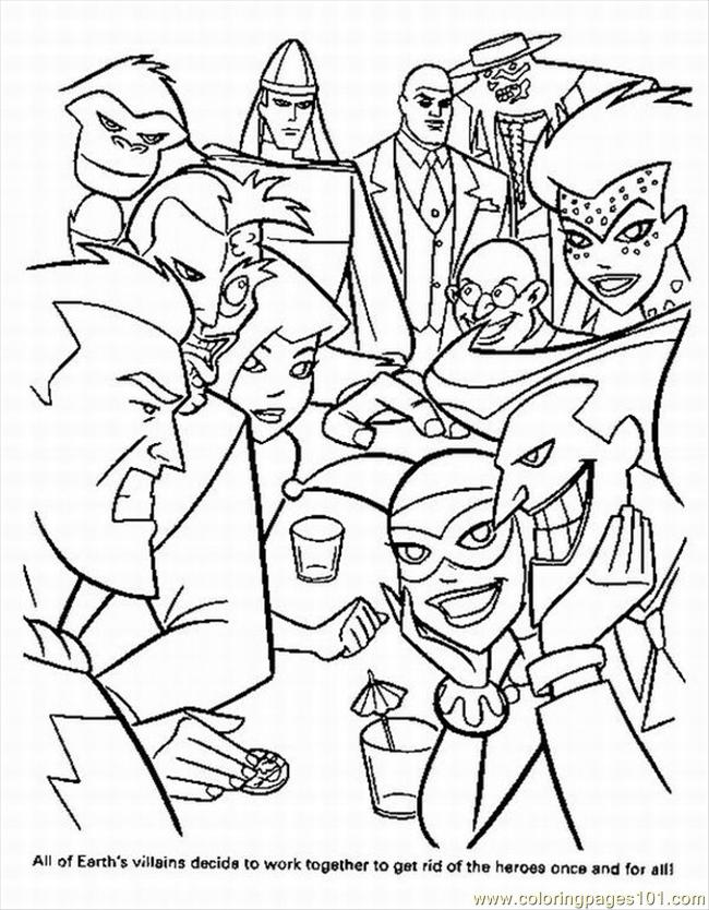 650x834 Superhero Printable Coloring Pages
