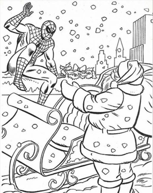 516x650 Superhero Christmas Coloring Pages