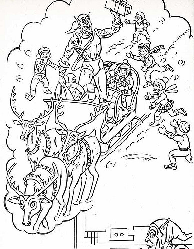 389x500 The Marvel Super Heroes' Christmas Coloring Book Page
