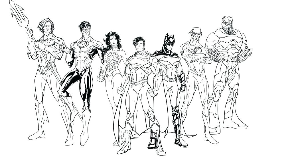 1024x563 Heroes Coloring Pages Dc Coloring Pages Justice League Coloring