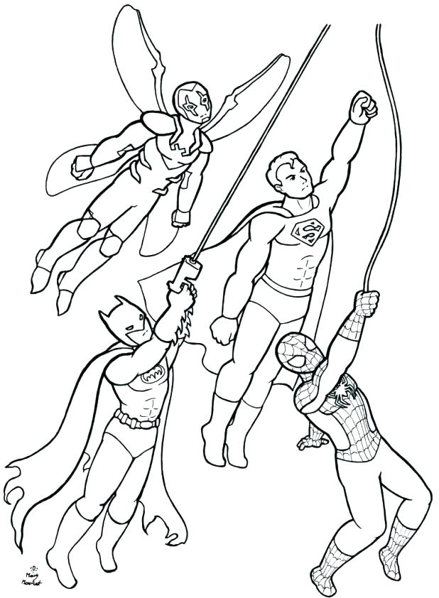 618x842 Printable Superhero Coloring Pages Pdf Free Colouring