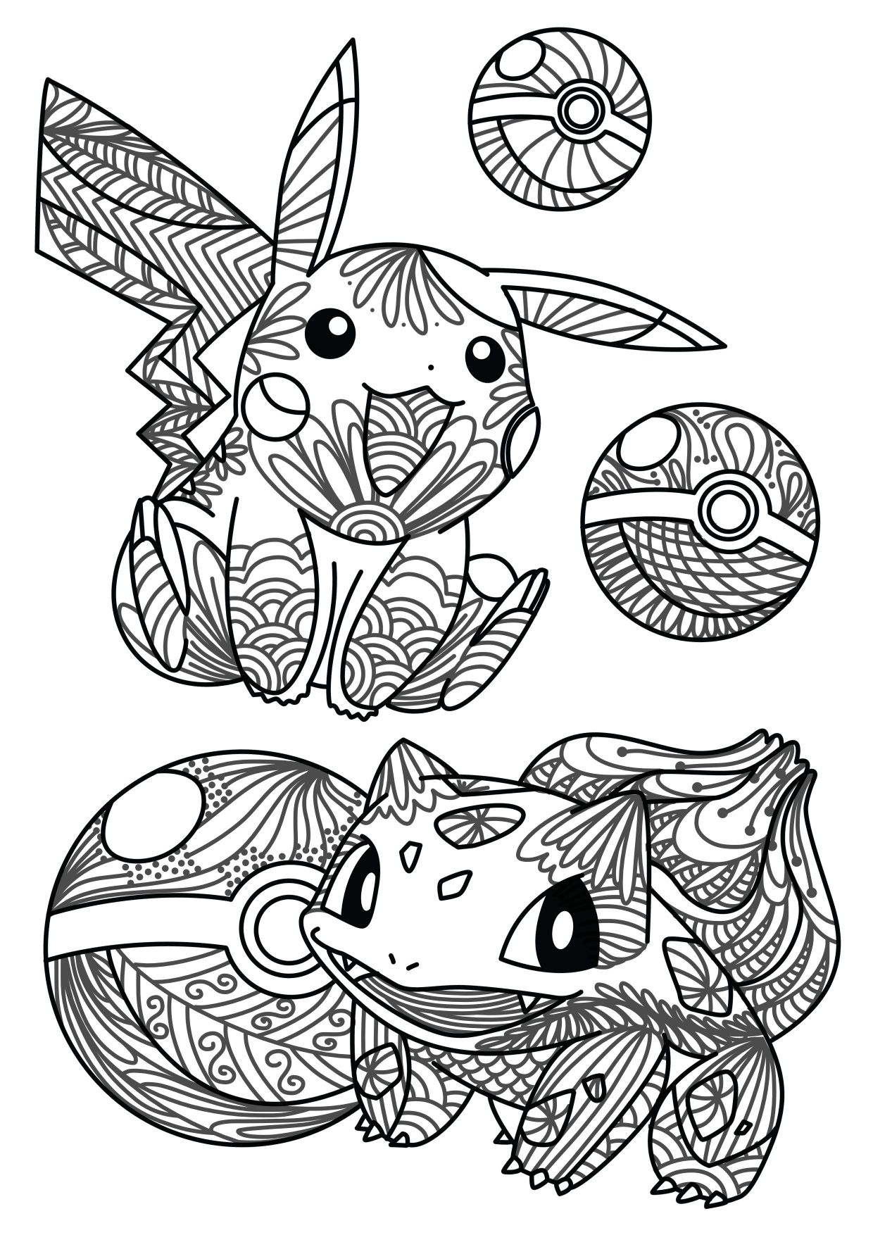 1240x1754 Shocking You Caught It Pokemon Adult Coloring Sheet U Craft Gossip