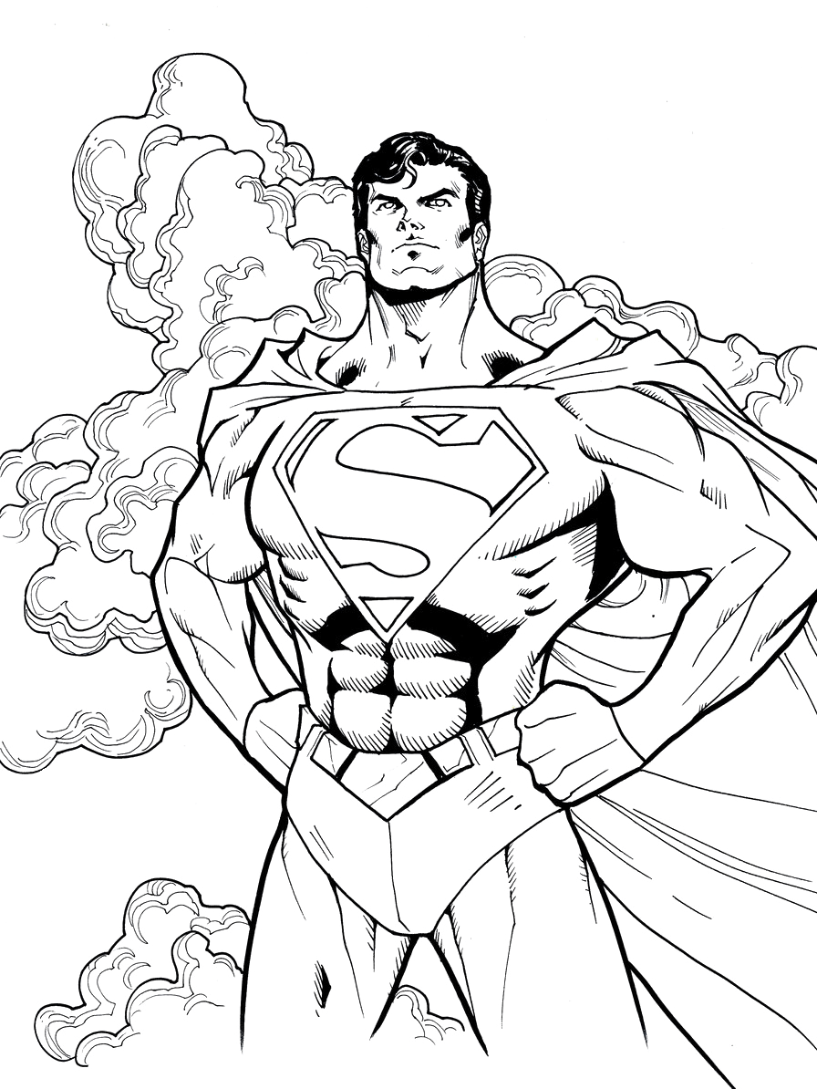 896x1194 Unique Superhero Coloring Pages Of For Your Kids