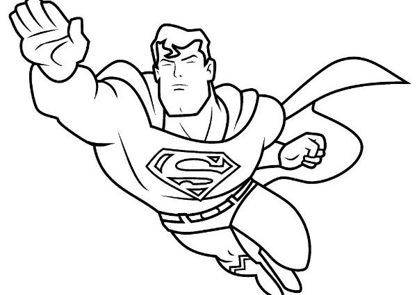 600x425 Superhero Coloring Page Intended For Super Hero Inspirations