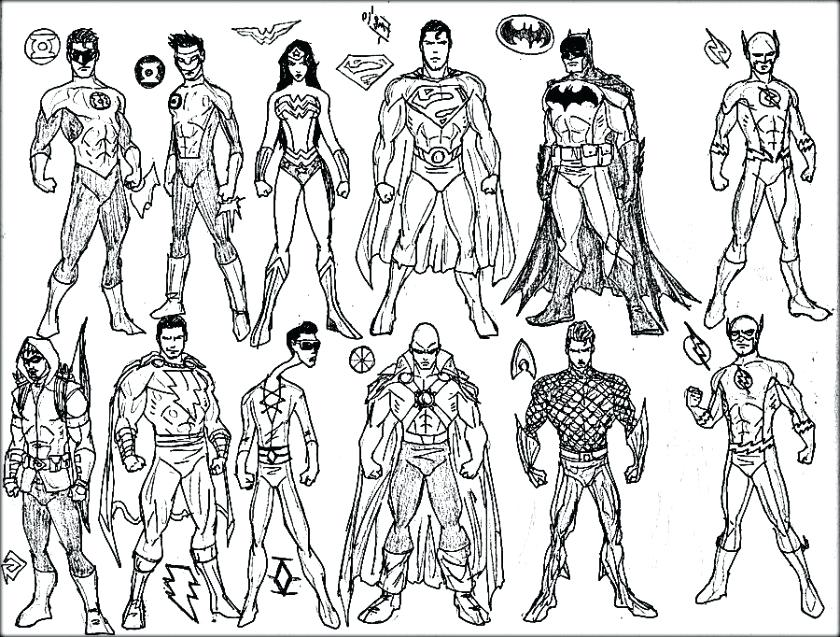840x637 Superheroes Coloring Pages Free Superhero Coloring Pages