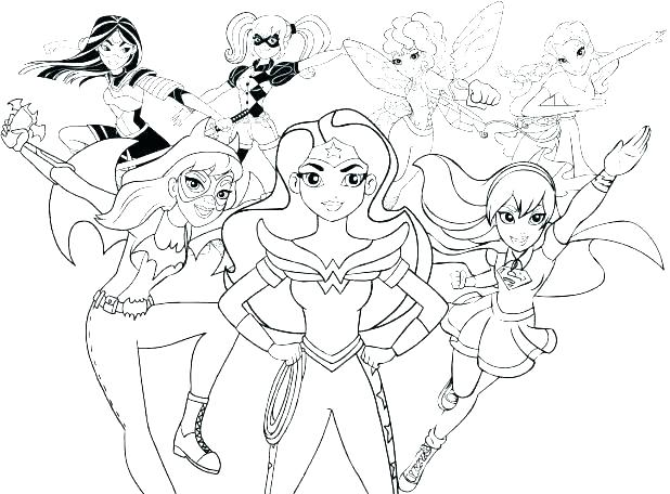 Superhero Coloring Pages For Kids At Getdrawings Com Free For