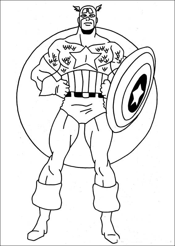 567x794 Superhero Coloring Pages Printable