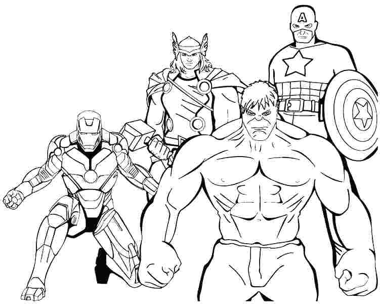 751x600 Free Superhero Coloring Pages