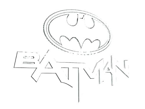 500x375 Superhero Logo Colouring Pages Kids Coloring Batman Symbol