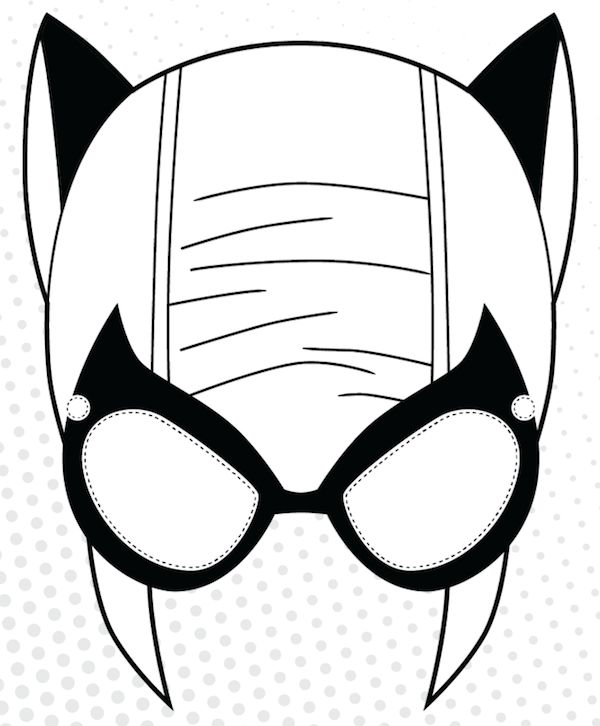 picture relating to Free Printable Superhero Mask titled Superhero Mask Coloring Internet pages at  Free of charge for
