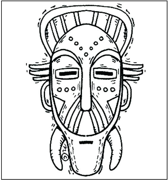 566x609 Mask Coloring Pages Mask Coloring Page Free Mask Coloring Pages