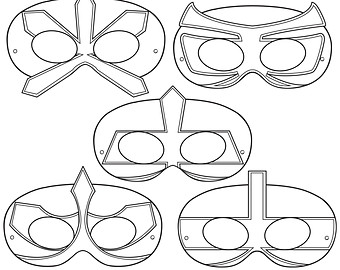 graphic about Printable Superhero Masks titled Superhero Mask Coloring Internet pages at  No cost for