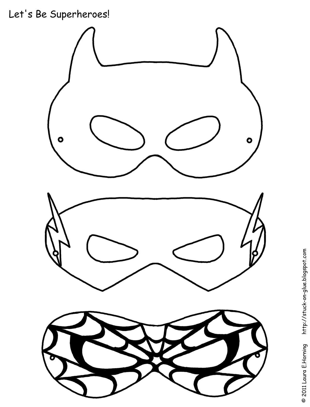 1200x1575 Superhero Activities Free Superhero Masks To Color Superhero