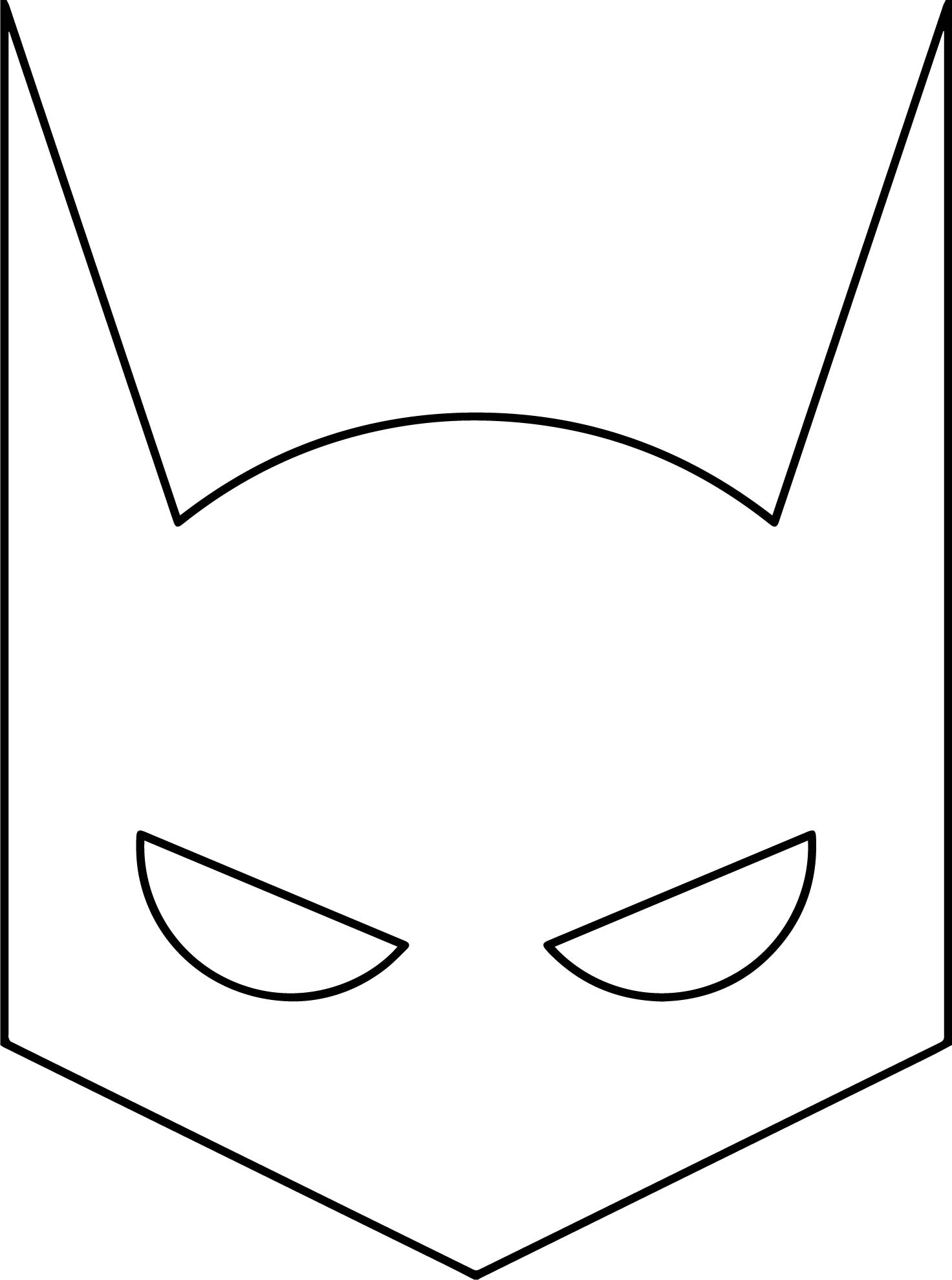 Superhero Mask Coloring Pages at GetDrawings   Free download