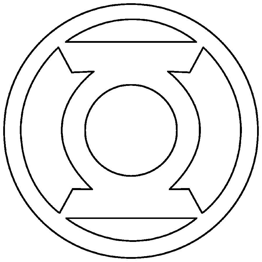 Superhero Symbols Coloring Pages