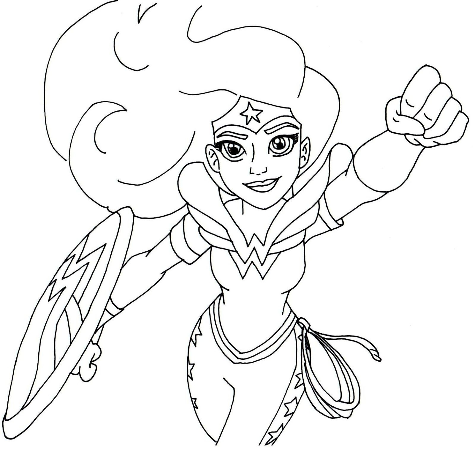 1600x1515 Beautiful Free Printable Super Hero High Coloring Page For Wonder