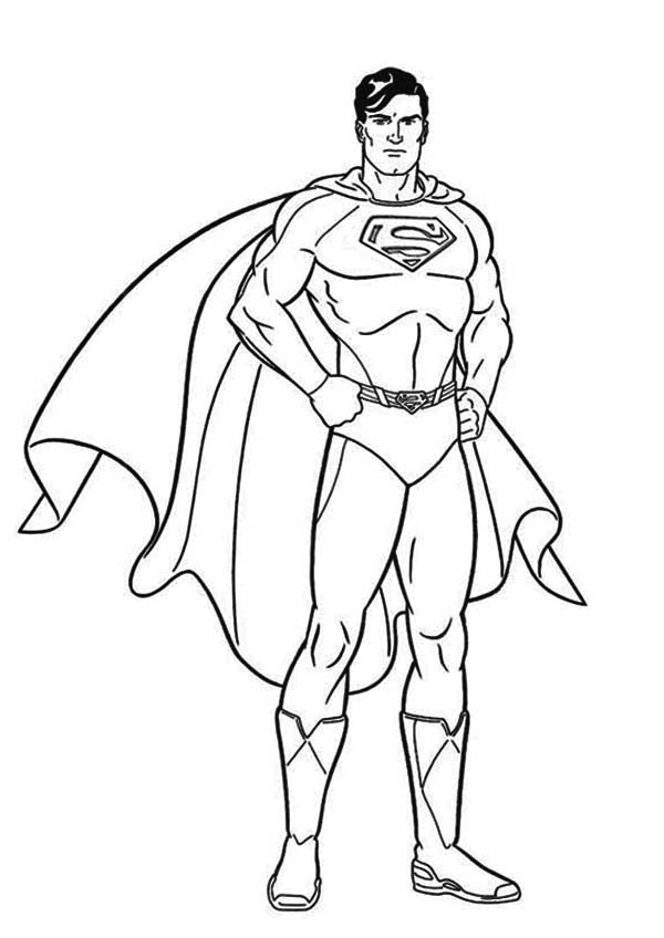 600x848 Coloring Pages Superman Coloring Book