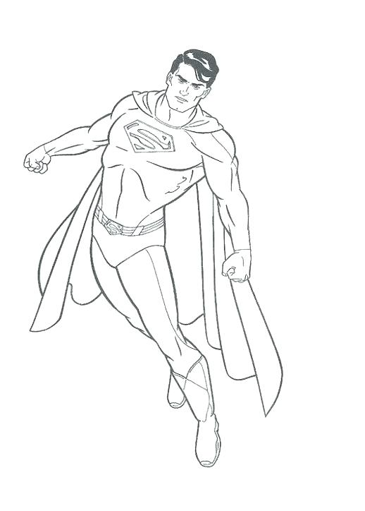 518x724 Free Superman Pictures To Print Kids Coloring Superman Coloring