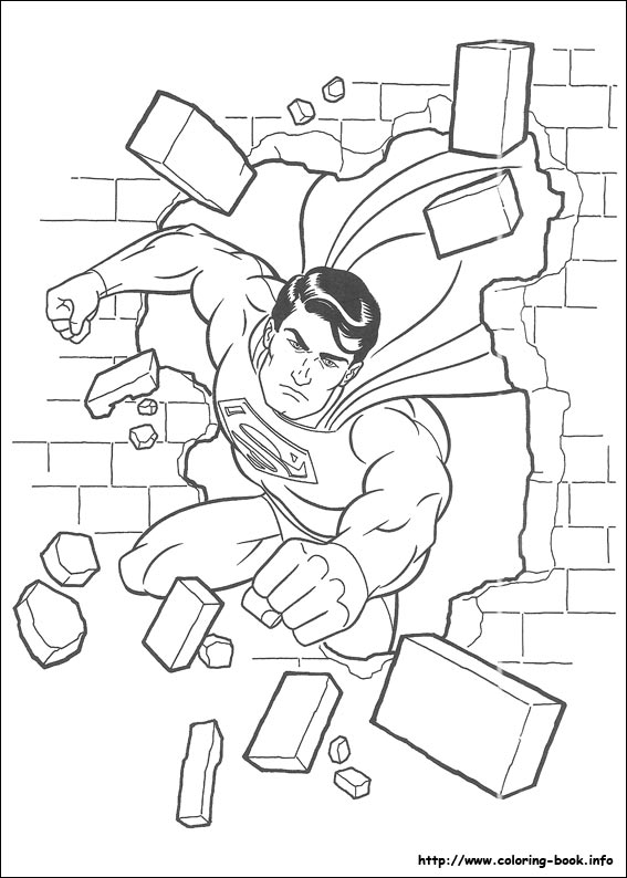 567x794 Superman Cartoon Pictures For Colouring Superman Coloring Pages
