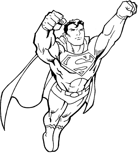 483x536 Superman Coloring Pages Coloring Book