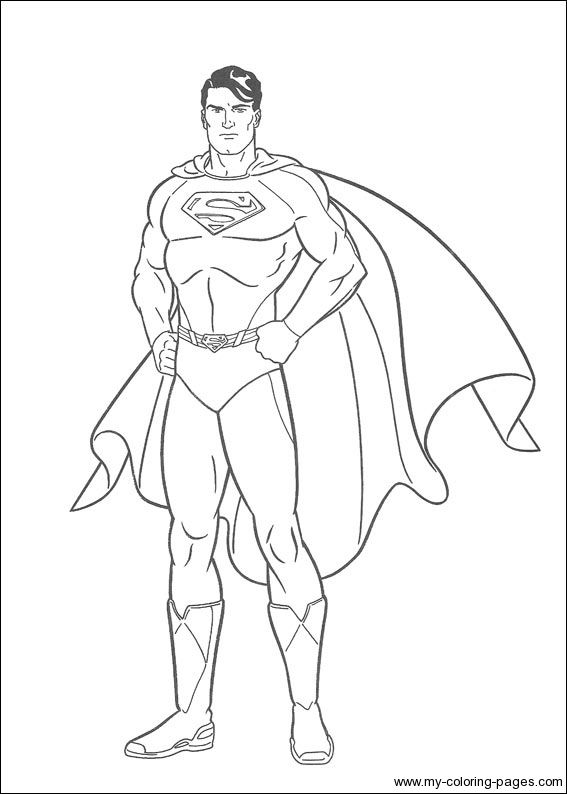 567x794 Superman Printable Coloring Pages