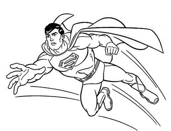 600x460 Amazing Superman Cartoon Coloring Pages Diy Coloring Page