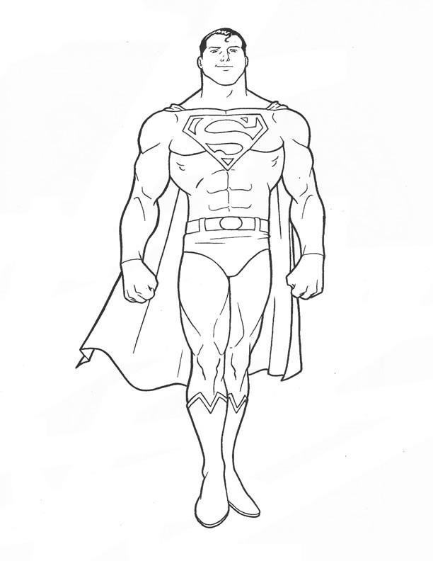 612x792 Nice Looking Superman Coloring Pages To Print Printable