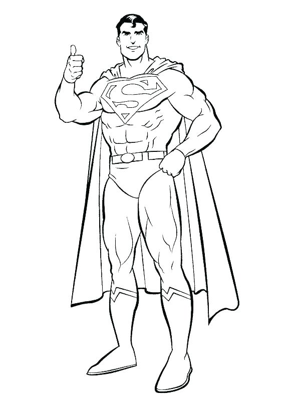 595x822 Printable Superman Coloring Pages Superman Colouring Picture