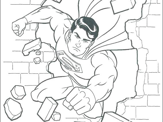 567x425 Superman Coloring Page Superman Coloring Pages X Free Printable