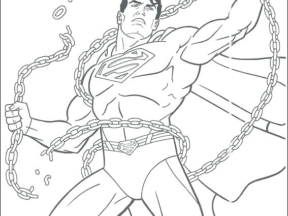 567x425 Superman Coloring Pages Free Printable Superman Coloring Pages