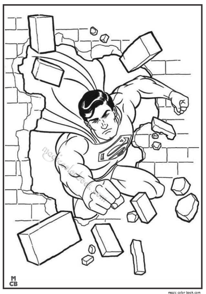 685x975 Superman Coloring Pages Printable