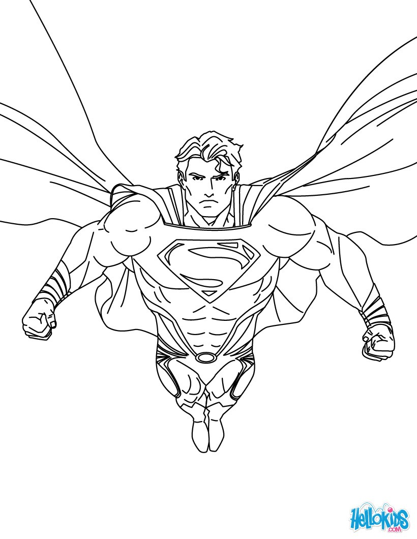 820x1060 Superman Printing And Drawing Coloring Pages