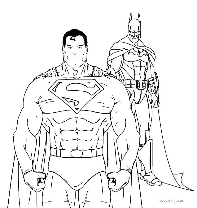 636x670 Superman Printable Coloring Pages