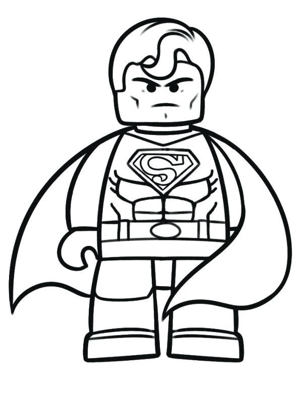 595x784 Lego Superman Coloring Pages Superman Coloring Pages Large Size