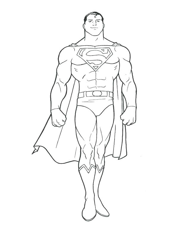 612x792 Printable Superman Coloring Pages Free Printable Superman Coloring
