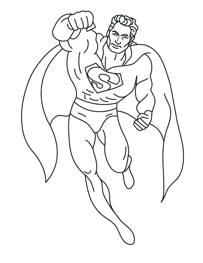 650x842 Superman Color Page Color Page For Kids Printable Coloring Books