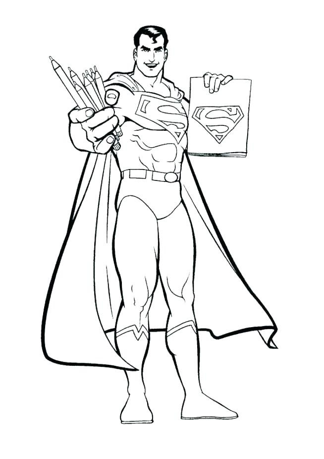654x926 Superman Color Pages Superman Coloring Pages Free Printable