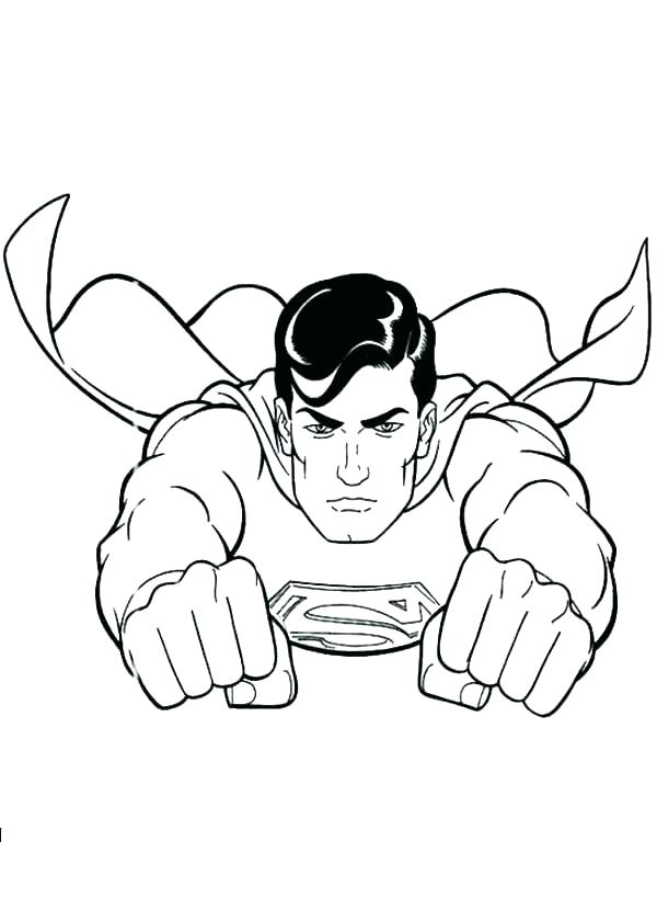 600x840 Superman Coloring Pictures To Print Printable Coloring Superman