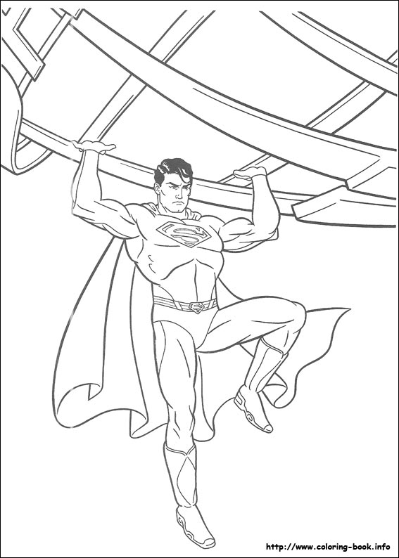 567x794 Superman Coloring Pages On Coloring