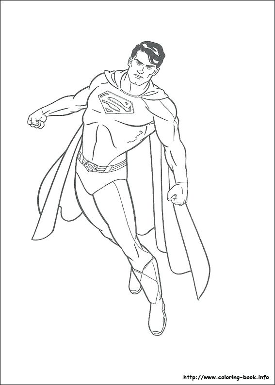 567x794 Superman Coloring Pages Printable