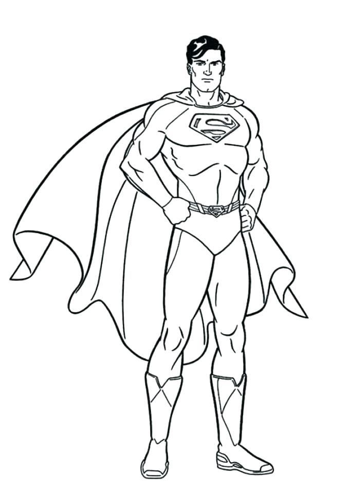 679x960 Coloring Pages Superman Superman Coloring Pages Printable Superman
