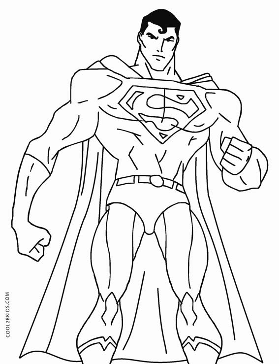 567x739 Free Printable Superman Coloring Pages For Kids