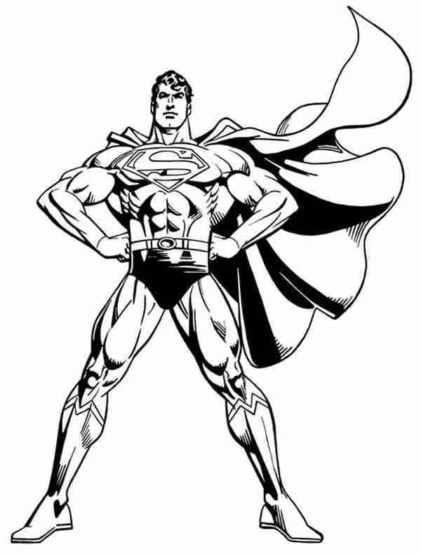 600x790 Superman And Batman Coloring Pages