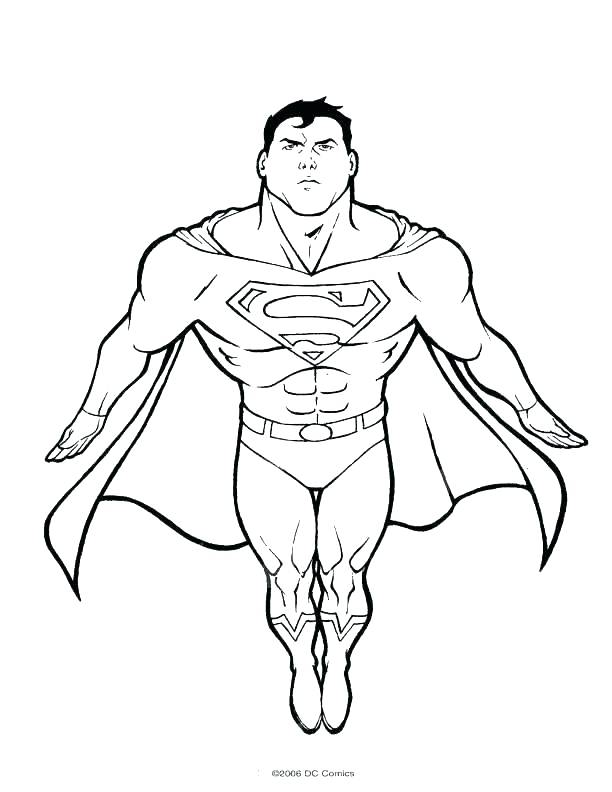 This is a photo of Superman Printable Coloring Pages with coloring book